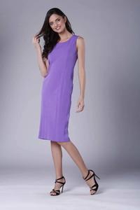 Fioletowa sukienka Nommo midi