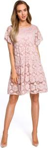 Sukienka MOE z okrągłym dekoltem z krótkim rękawem