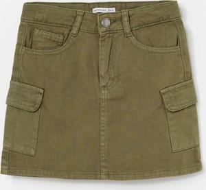 Zielona spódniczka dziewczęca Reserved z bawełny