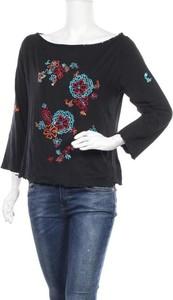 Czarna bluzka Luisa Spagnoli z długim rękawem