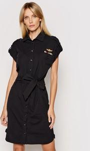 Sukienka Aeronautica Militare koszulowa w stylu casual