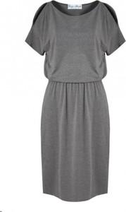 Sukienka Kasia Miciak design z krótkim rękawem z odkrytymi ramionami
