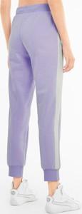 Fioletowe spodnie Puma w sportowym stylu z bawełny