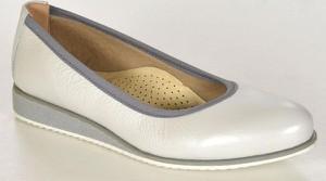 Lampert 1137/modena k34 szara/biała perła półbuty damskie