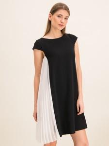 Czarna sukienka iBlues w stylu casual z krótkim rękawem mini