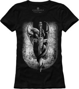 T-shirt Underworld z bawełny w młodzieżowym stylu z krótkim rękawem