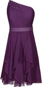 Sukienka Fokus bez rękawów z szyfonu