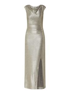 Srebrna sukienka Swing prosta bez rękawów