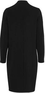 Czarny płaszcz Happy Holly w stylu casual