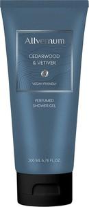 Allverne Allvernum Men, żel pod prysznic perfumowany, cedarwood & vetiver, 200 ml
