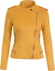 Żółta kurtka fasoni.pl w stylu casual