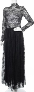 Czarna sukienka Gattinoni z długim rękawem