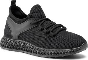 Czarne buty sportowe DeeZee z płaską podeszwą