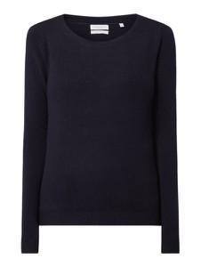 Granatowy sweter Christian Berg Women z wełny w stylu casual