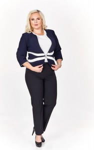 Marynarka Fokus z tkaniny krótka