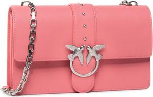 Różowa torebka Pinko zdobiona