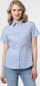 Niebieska bluzka brookshire w stylu casual z krótkim rękawem