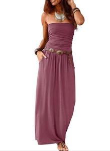 Sukienka Sandbella maxi na ramiączkach