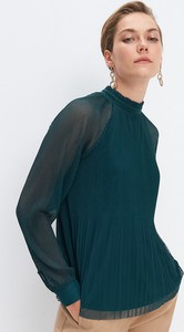 Zielona bluzka Mohito z długim rękawem