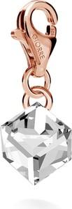 GIORRE SREBRNY CHARMS KAMIEŃ SWAROVSKI 925 : Kolor kryształu SWAROVSKI - Crystal, Kolor pokrycia srebra - Pokrycie Różowym 18K Złotem
