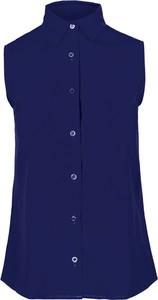 Niebieska koszula Style z tkaniny w stylu casual