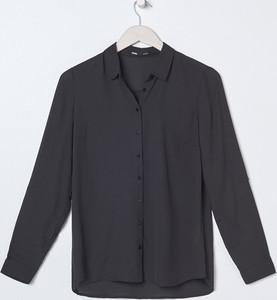 Czarna koszula Sinsay z kołnierzykiem