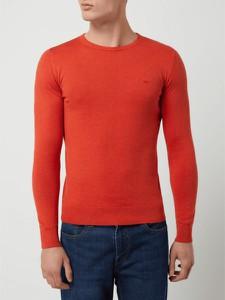 Czerwony sweter Tom Tailor z okrągłym dekoltem w stylu casual
