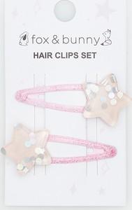 Sinsay - Spinki do włosów 2 pack - Różowy