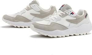 Buty sportowe Fila sznurowane z zamszu