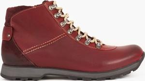 Buty zimowe Kulig ze skóry sznurowane