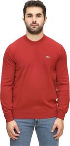 Czerwony sweter Lacoste w stylu casual z dżerseju