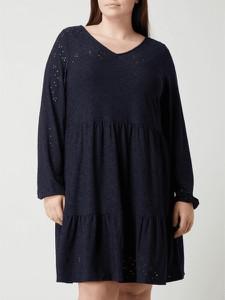 Granatowa sukienka Only w stylu casual mini z dekoltem w kształcie litery v