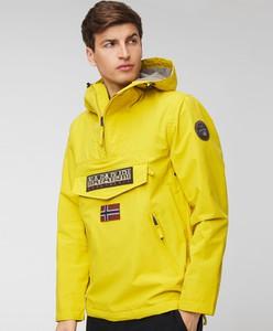 Żółta kurtka Napapijri z tkaniny