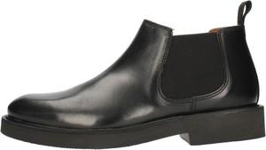 Czarne buty zimowe Frau ze skóry