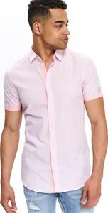 Różowa koszula Top Secret w stylu casual