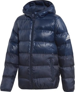 Niebieska kurtka dziecięca Adidas z tkaniny