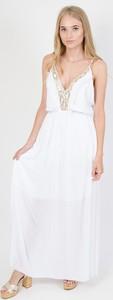 Sukienka Olika w stylu glamour na ramiączkach prosta