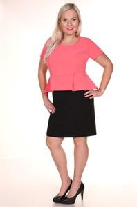 Sukienka Fokus z tkaniny z krótkim rękawem midi