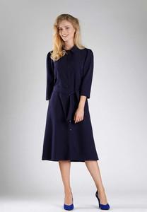 Sukienka Nommo midi w stylu casual z długim rękawem