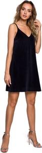 Czarna sukienka MOE mini na ramiączkach