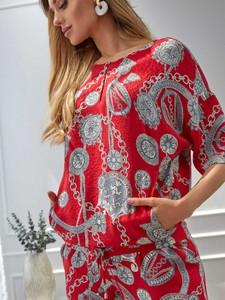 Bluzka L'AF z okrągłym dekoltem z tkaniny