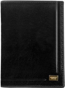 Czarny portfel męski Rovicky ze skóry