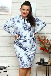 Sukienka KARKO z dresówki w stylu casual