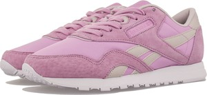 Różowe buty sportowe Reebok z zamszu sznurowane