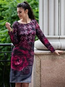 Sukienka POTIS & VERSO z długim rękawem z okrągłym dekoltem