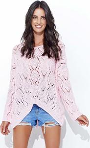 Różowy sweter Makadamia