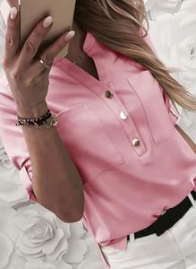Koszula Sandbella z dekoltem w kształcie litery v z długim rękawem w stylu casual