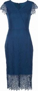 Sukienka VISSAVI ołówkowa midi z dekoltem w kształcie litery v