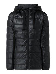 Czarna kurtka Esprit krótka z kapturem