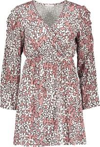 Sukienka Garden Party mini z dekoltem w kształcie litery v w stylu casual